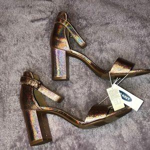 💕 Metallic Block Heel